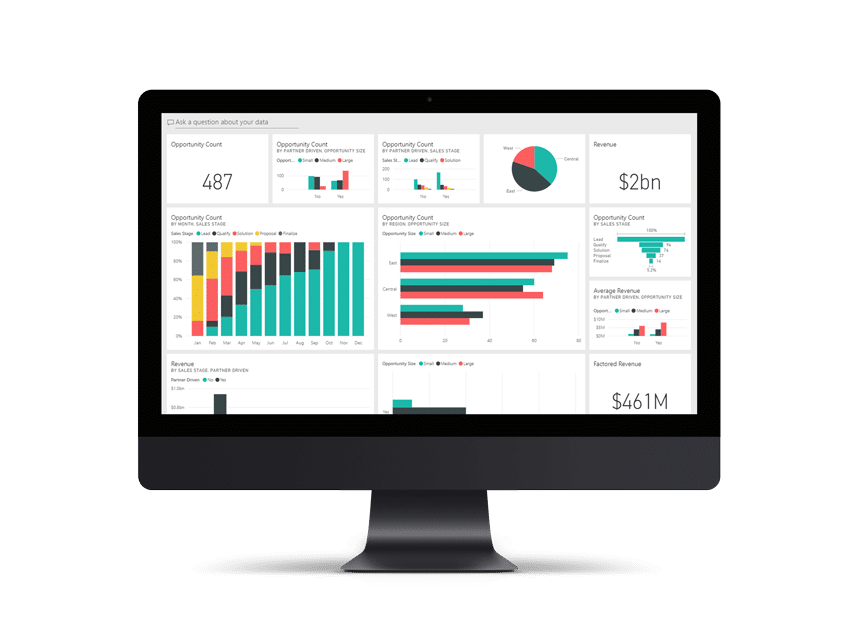 Calculate ROI across your business withPower BI.